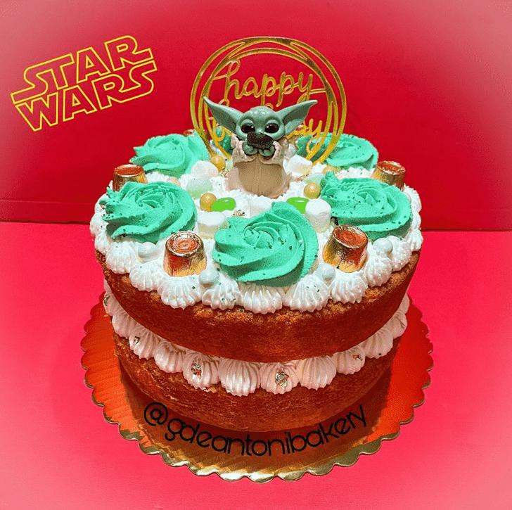 Superb Baby Yoda Cake