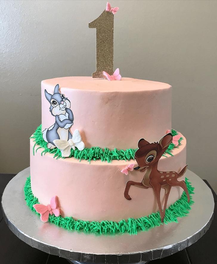 Captivating Bambi Cake