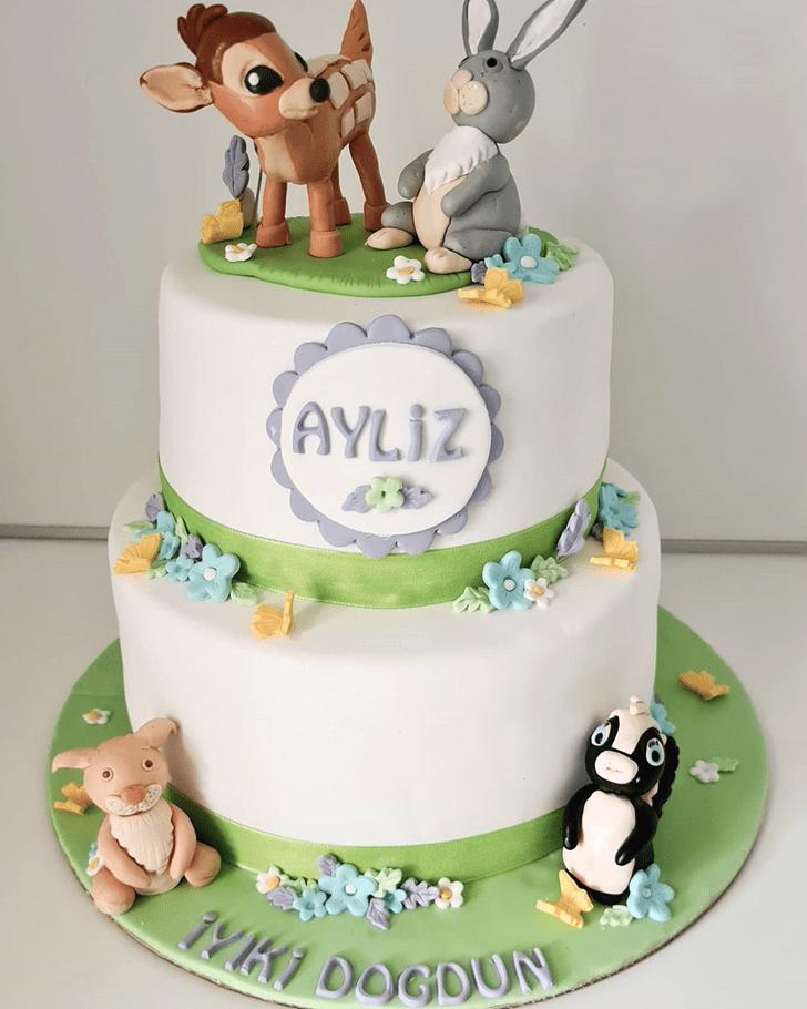 Elegant Bambi Cake