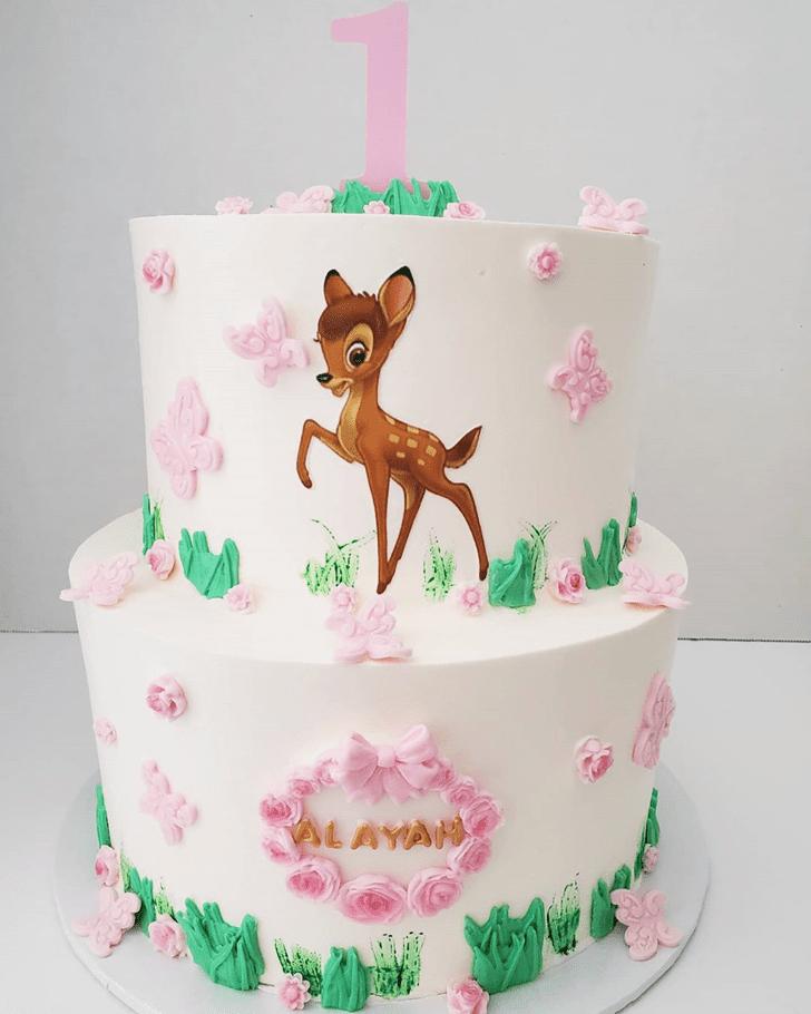 Fetching Bambi Cake