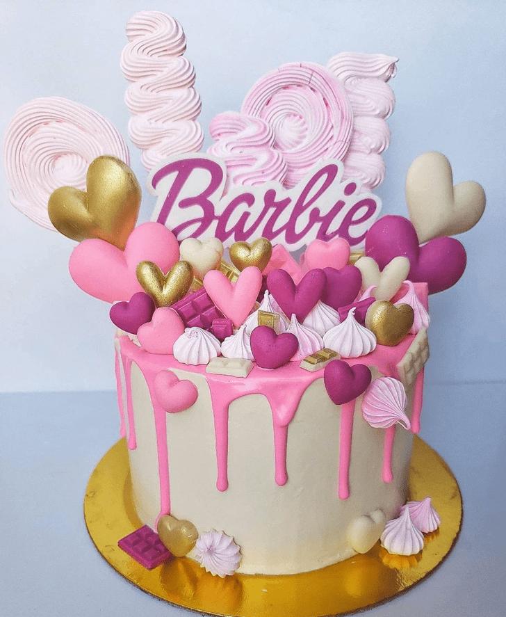 AnBarbieic Barbie Cake