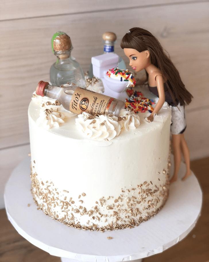 Appealing Barbie Cake