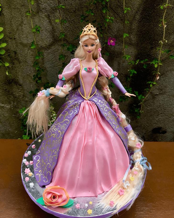 Enthralling Barbie Cake