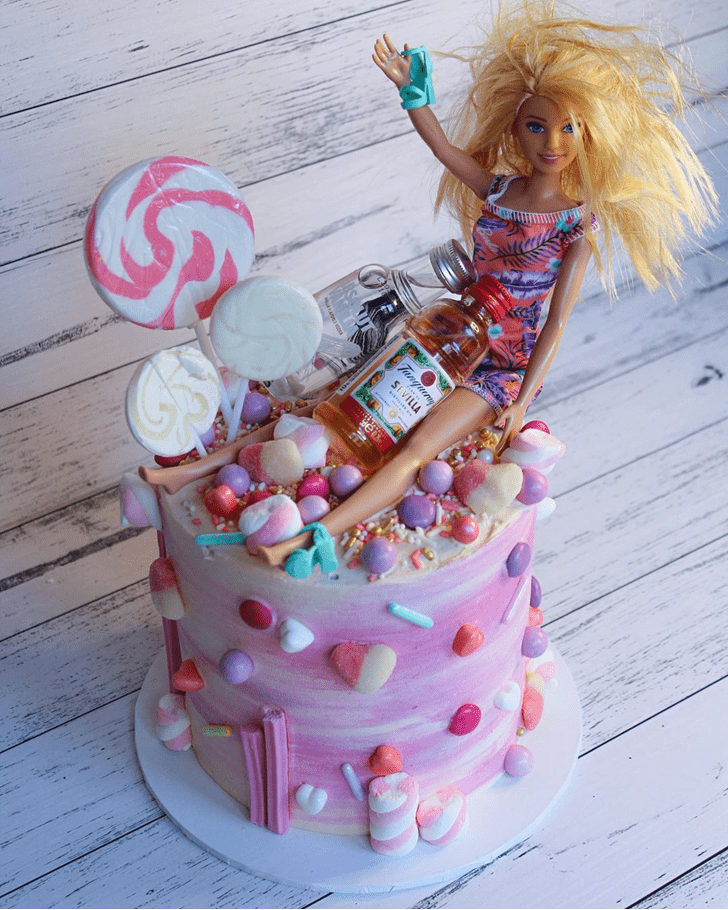 Enticing Barbie Cake