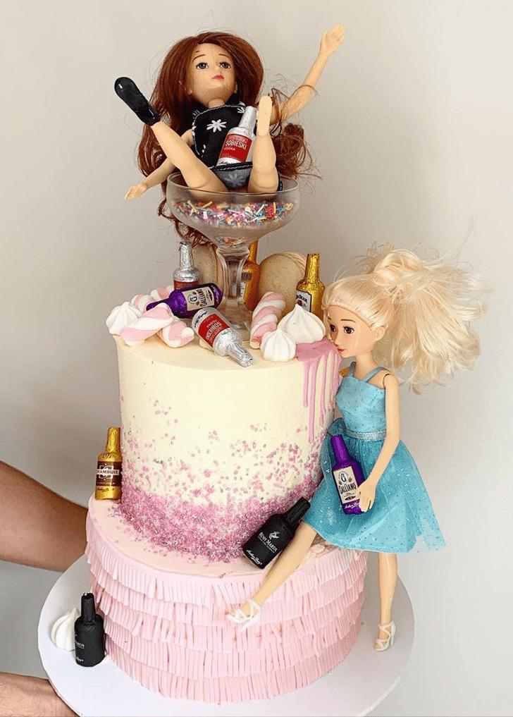 Fetching Barbie Cake
