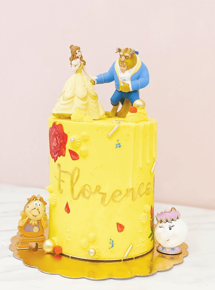 Adorable Beauty and the Beast Cake