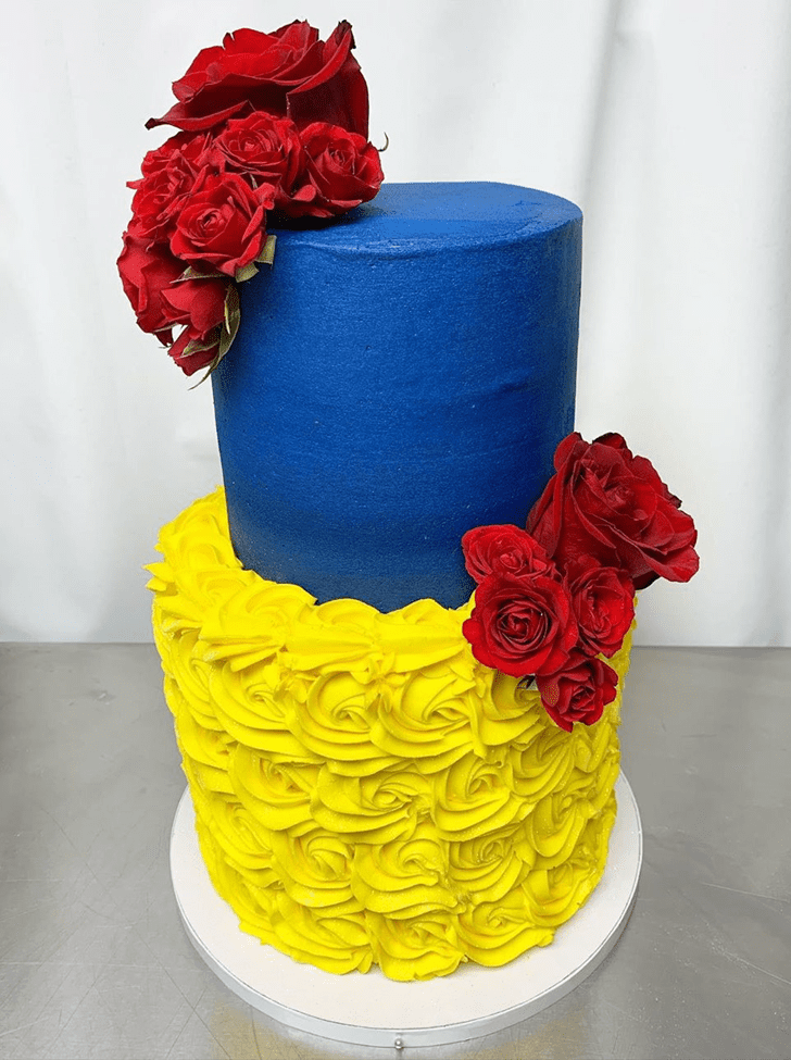 Alluring Beauty and the Beast Cake
