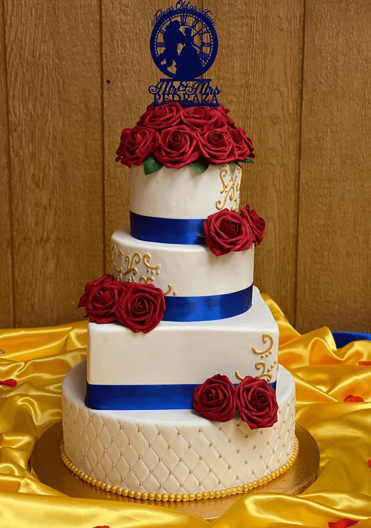 Angelic Beauty and the Beast Cake