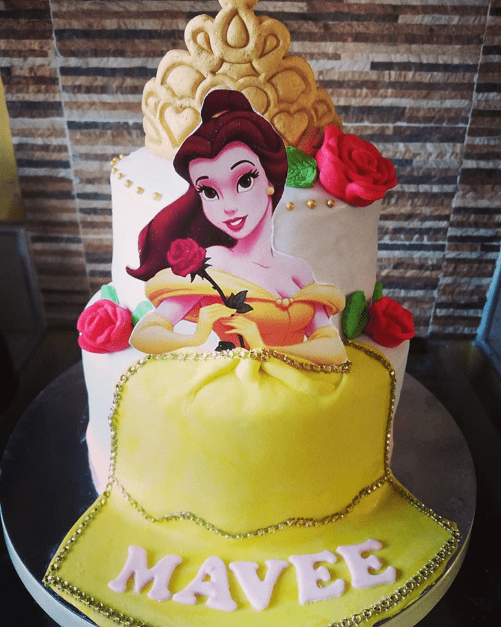 Captivating Beauty and the Beast Cake