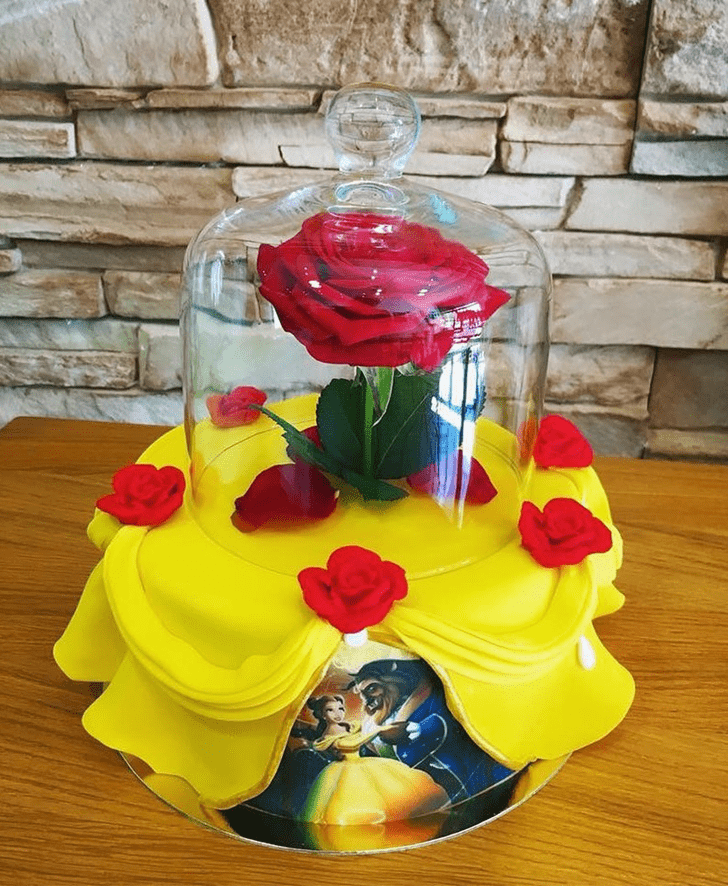Charming Beauty and the Beast Cake