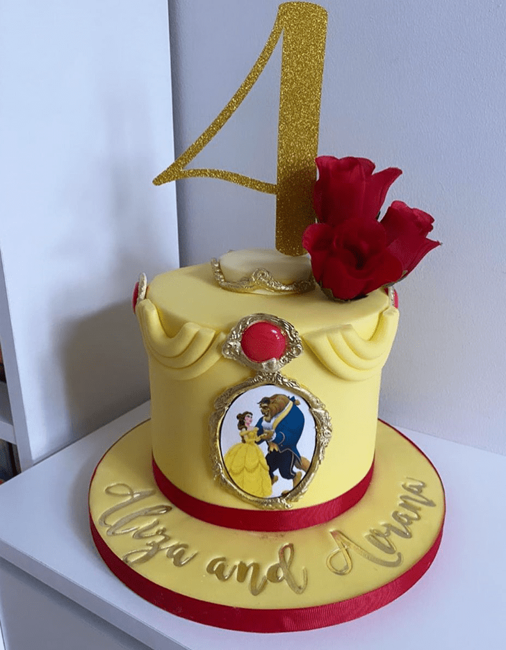 Classy Beauty and the Beast Cake
