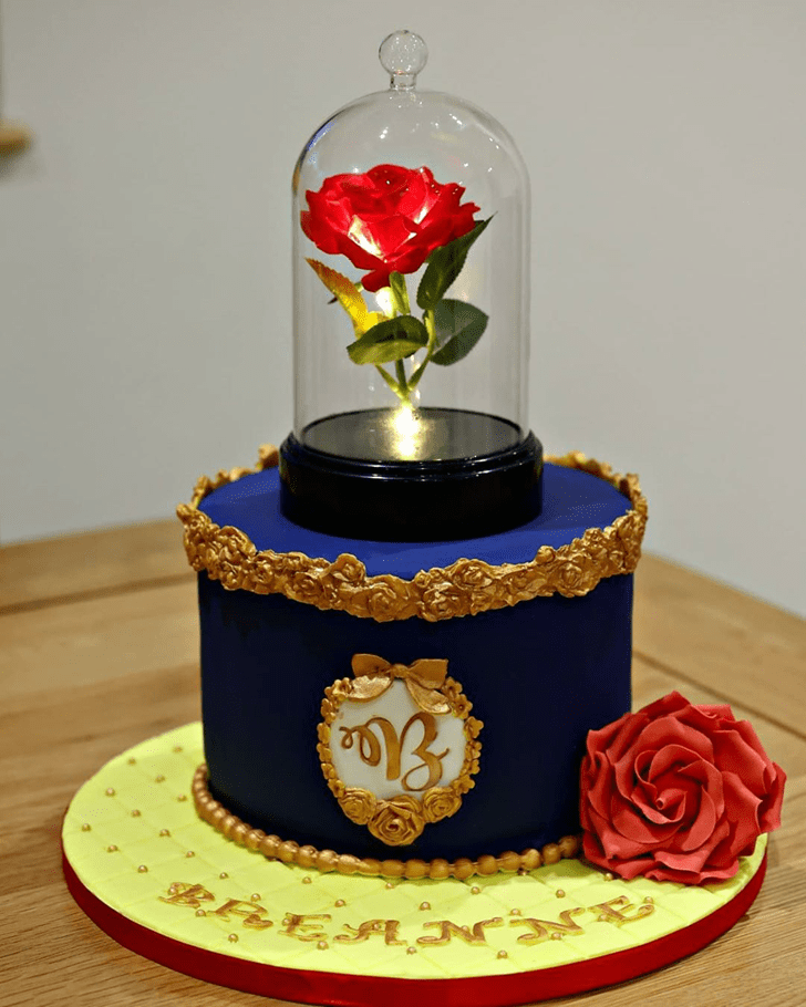 Dazzling Beauty and the Beast Cake