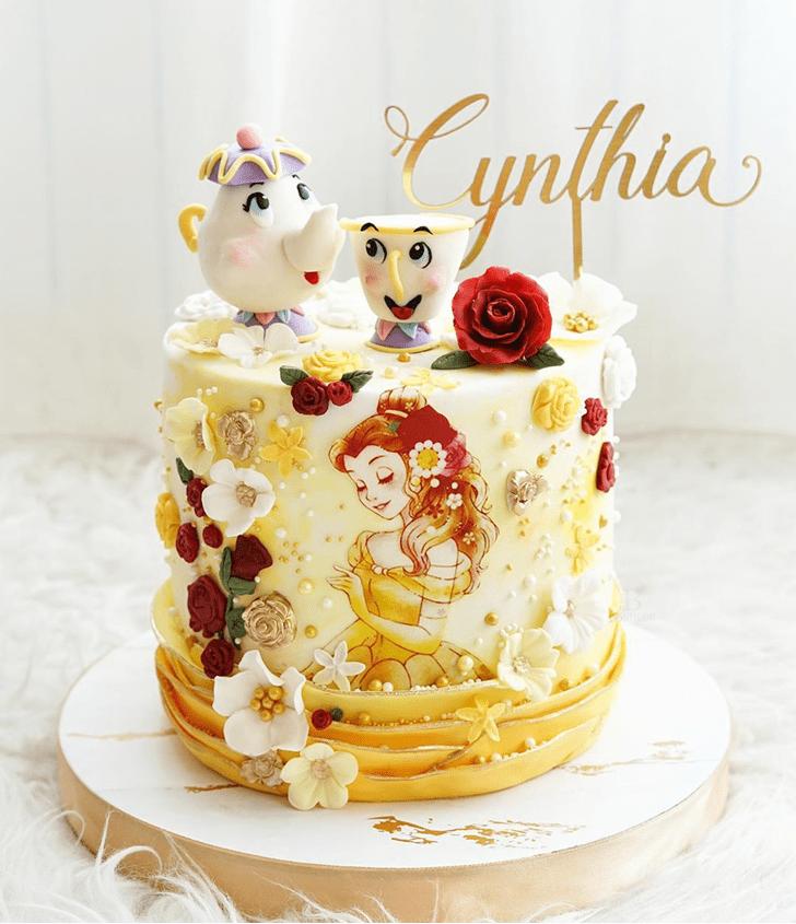 Elegant Beauty and the Beast Cake