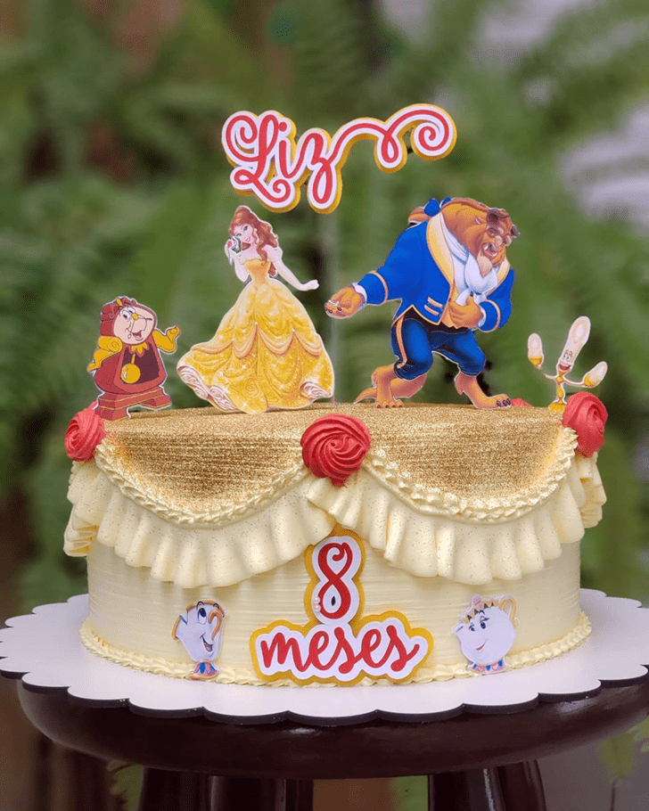 Enticing Beauty and the Beast Cake