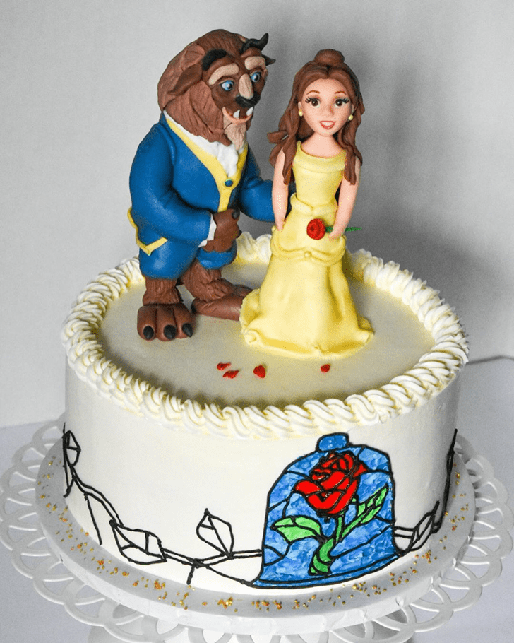 Exquisite Beauty and the Beast Cake