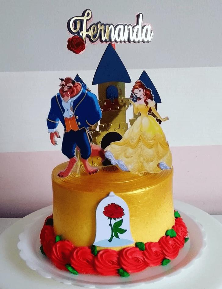 Fair Beauty and the Beast Cake