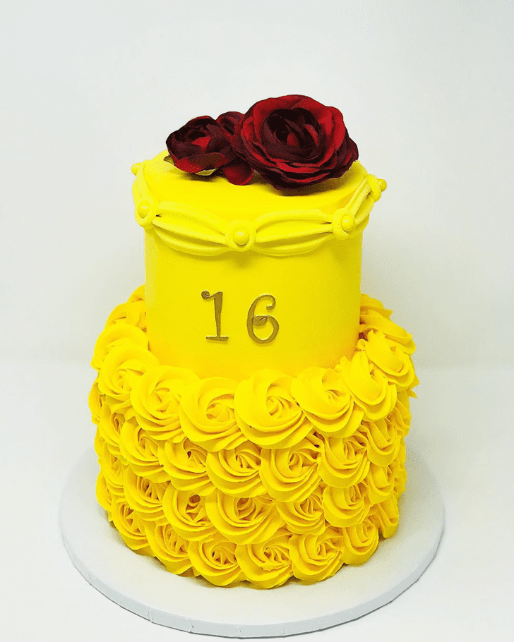 Fetching Beauty and the Beast Cake