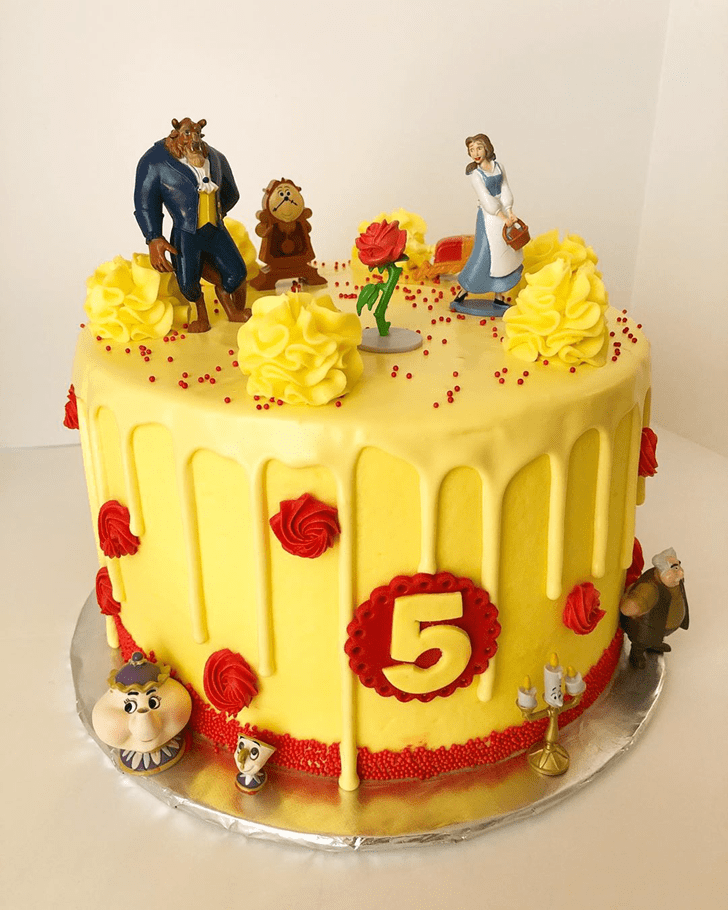 Handsome Beauty and the Beast Cake