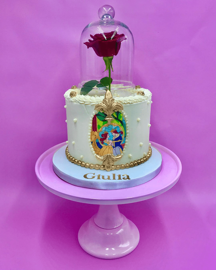 Inviting Beauty and the Beast Cake