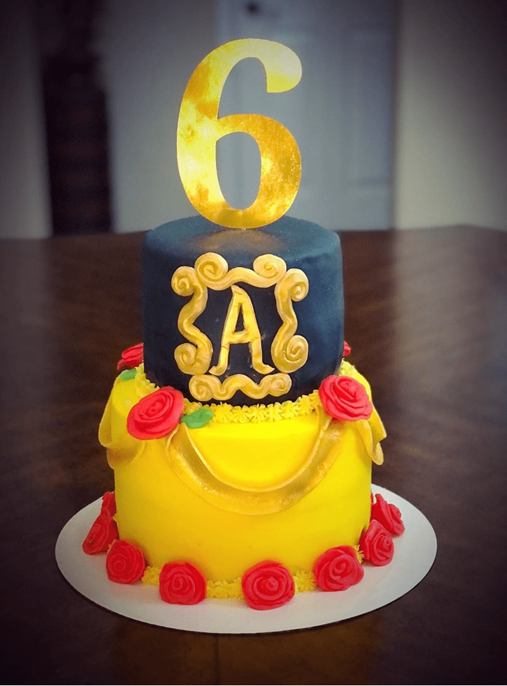 Lovely Beauty and the Beast Cake Design
