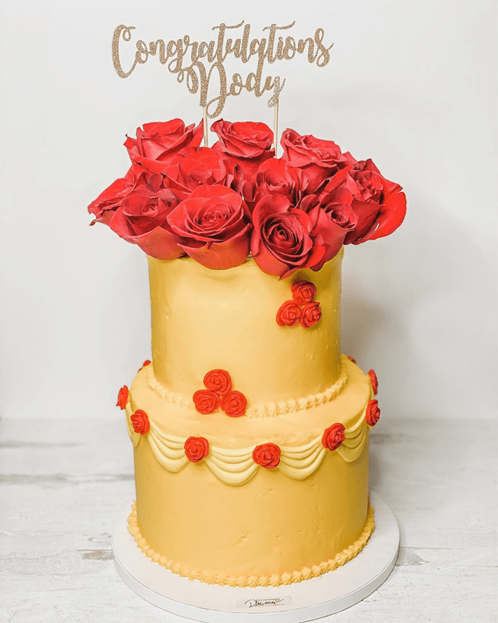 Marvelous Beauty and the Beast Cake