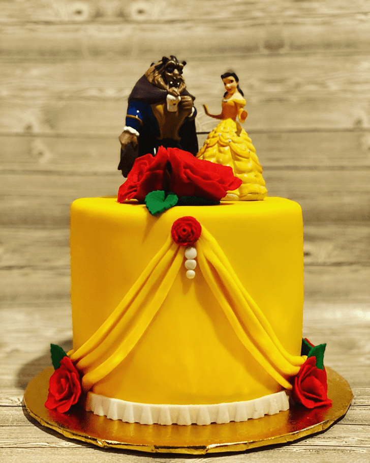 Pretty Beauty and the Beast Cake