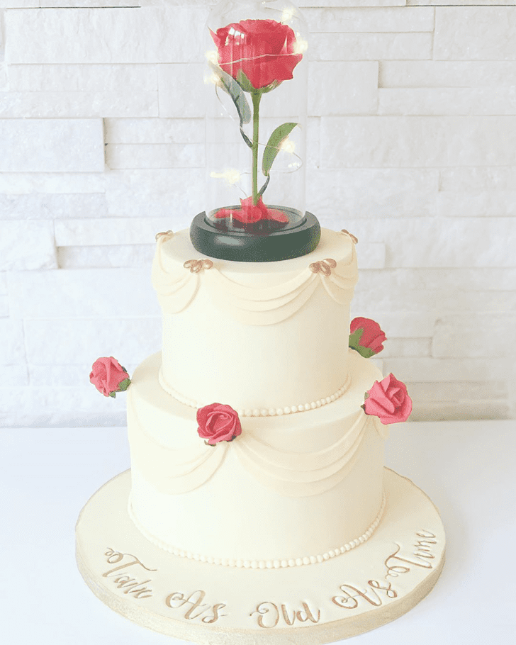 Radiant Beauty and the Beast Cake