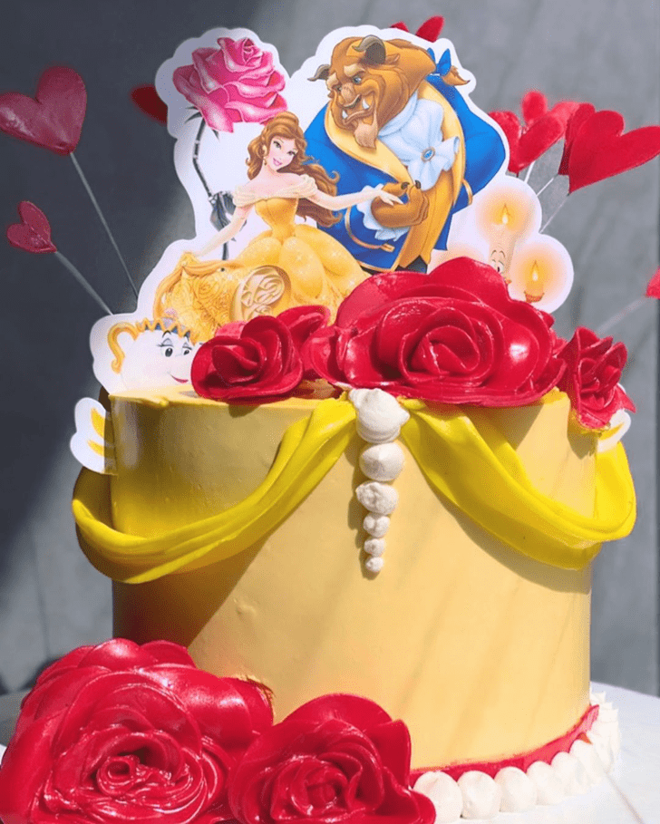Refined Beauty and the Beast Cake