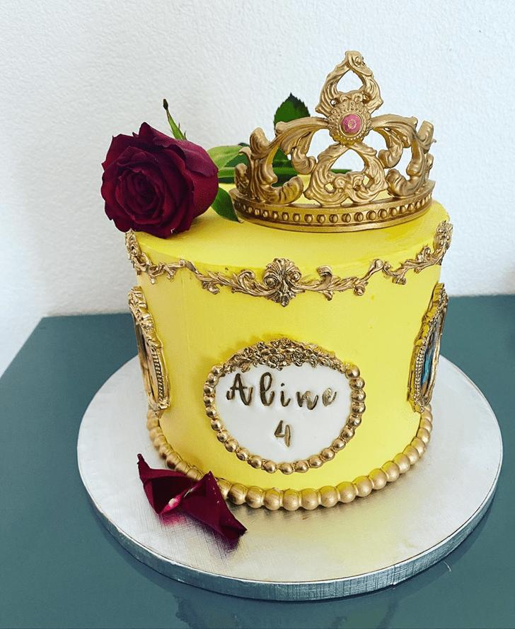 Resplendent Beauty and the Beast Cake