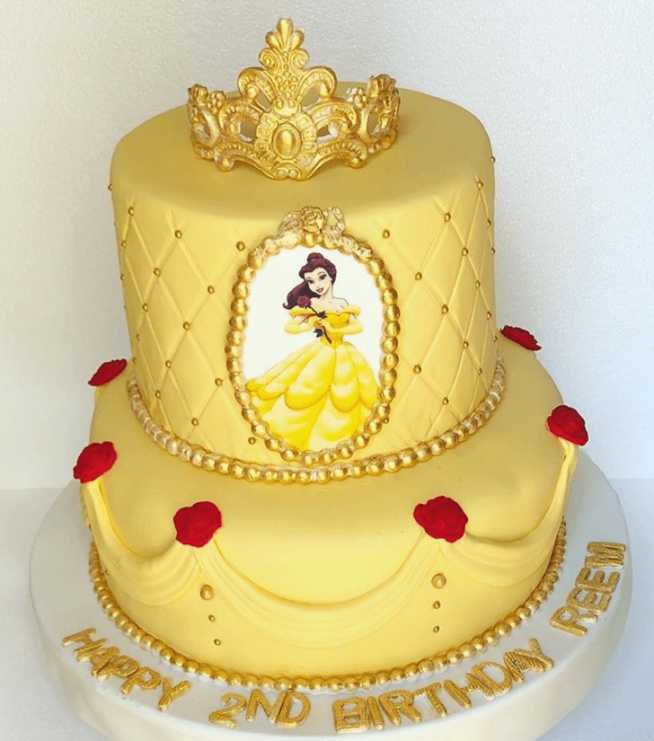 Shapely Beauty and the Beast Cake