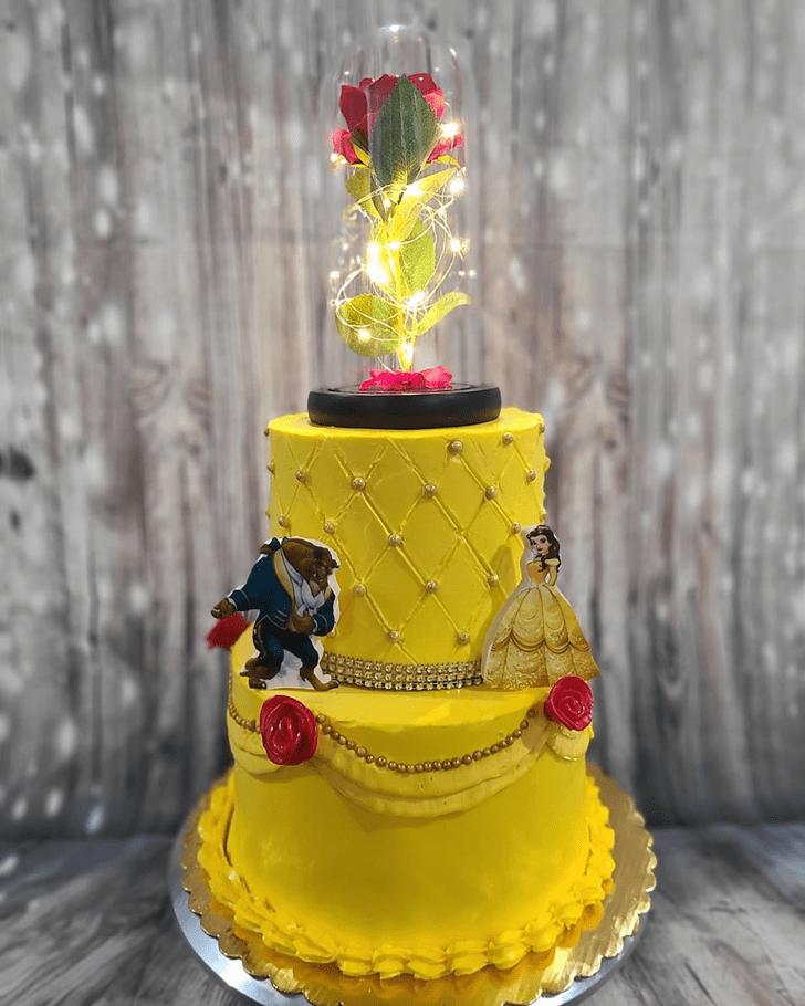 Splendid Beauty and the Beast Cake