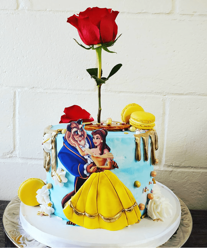 Wonderful Beauty and the Beast Cake Design