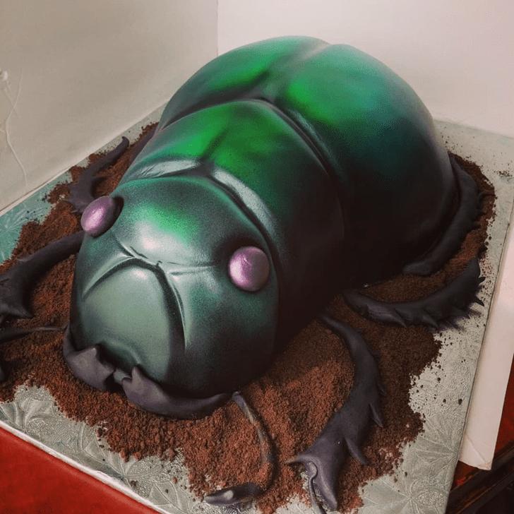 Charming Beetle Cake