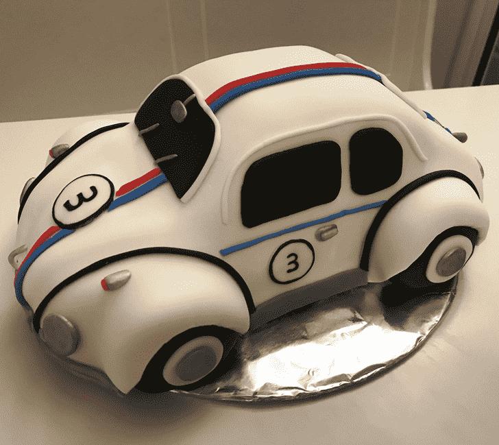 Adorable Beetle Car Cake