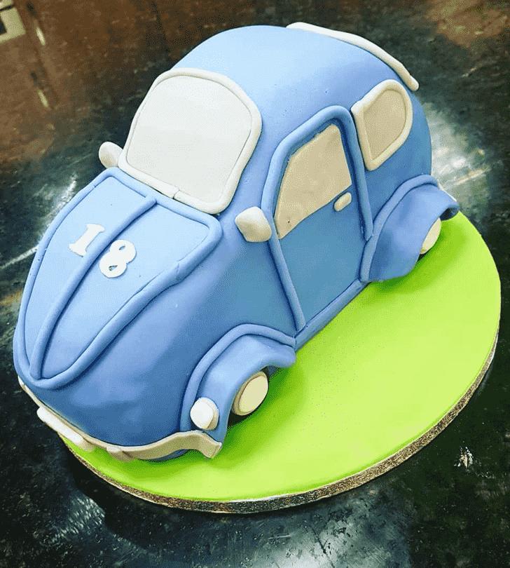 Alluring Beetle Car Cake
