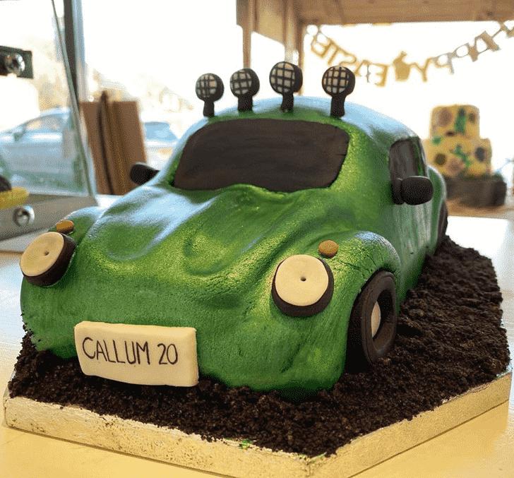 Angelic Beetle Car Cake