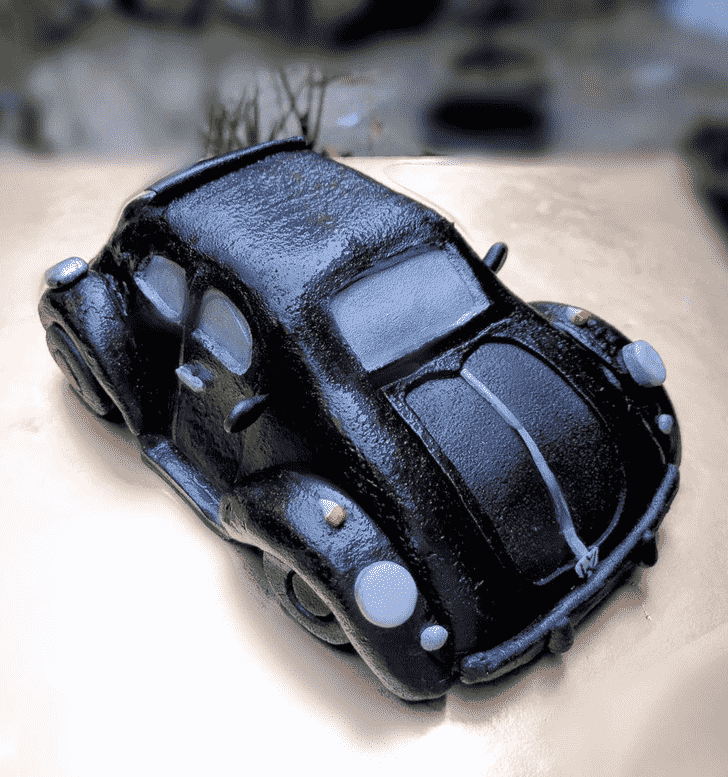 Charming Beetle Car Cake