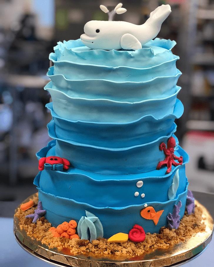 Charming Beluga Cake
