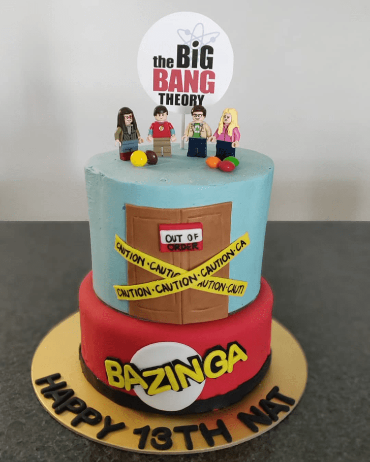 Delicate Big Bang Theory Cake