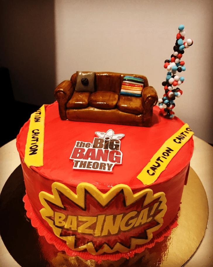 Lovely Big Bang Theory Cake Design