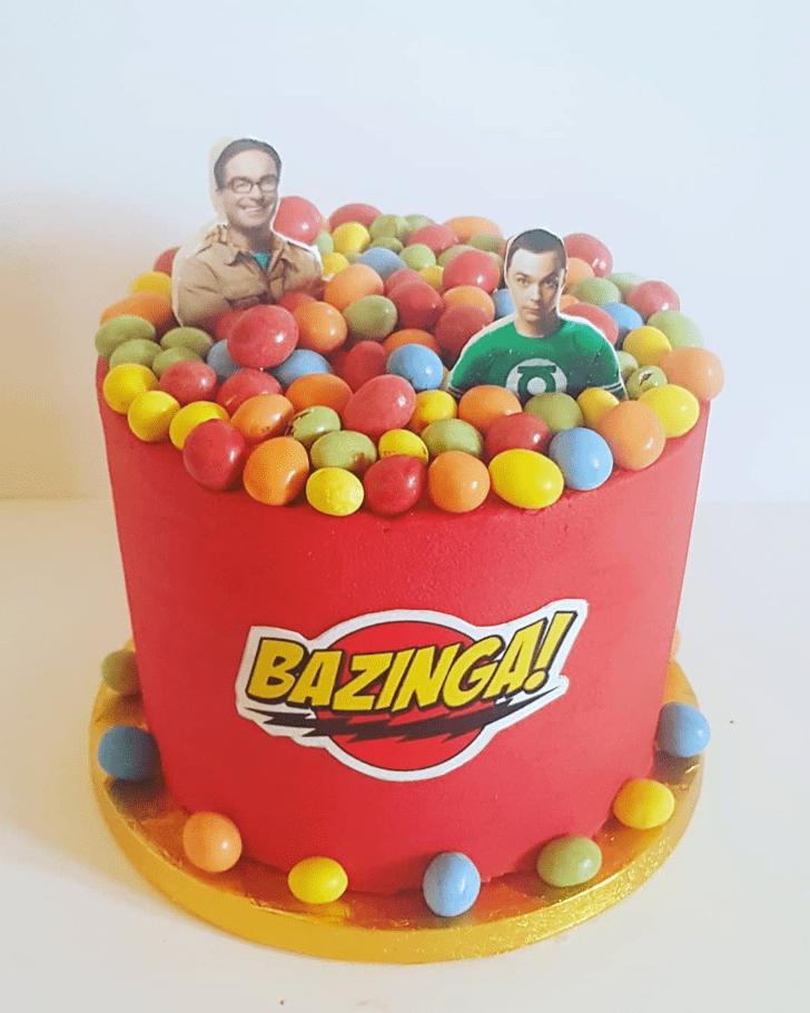Magnetic Big Bang Theory Cake