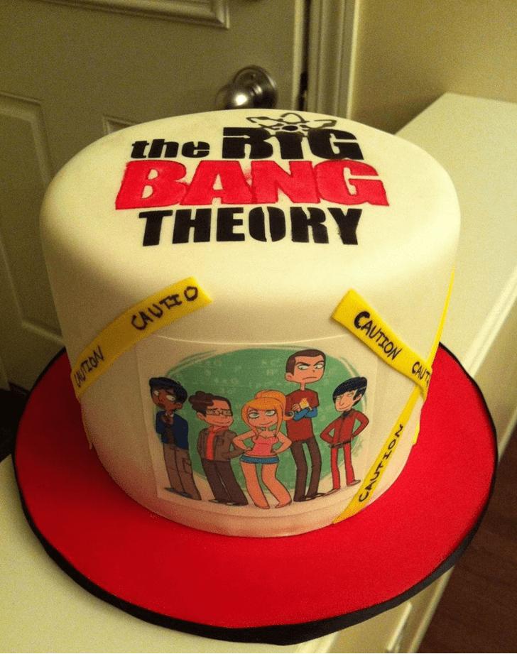 Radiant Big Bang Theory Cake
