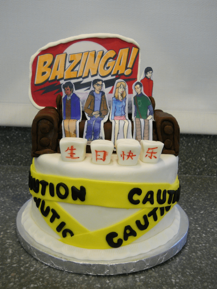 Refined Big Bang Theory Cake