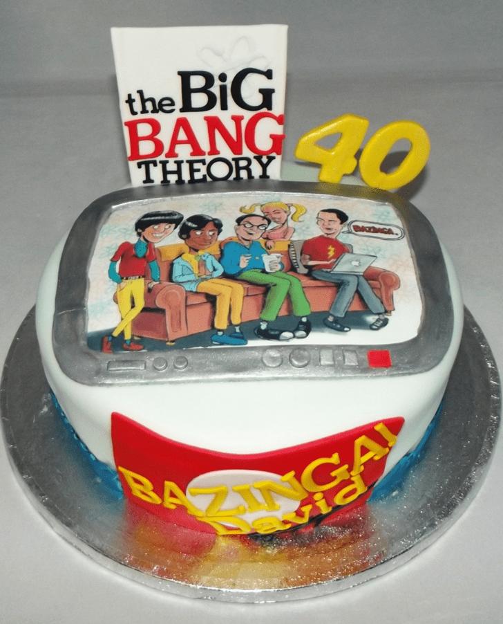 Resplendent Big Bang Theory Cake