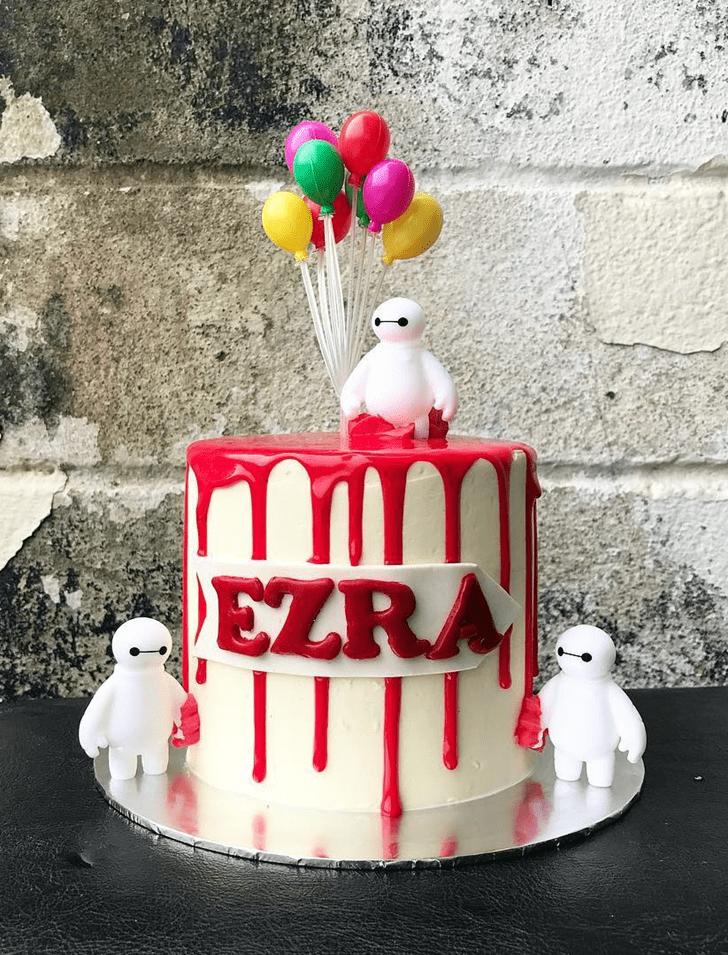 Lovely Big Hero 6 Cake Design