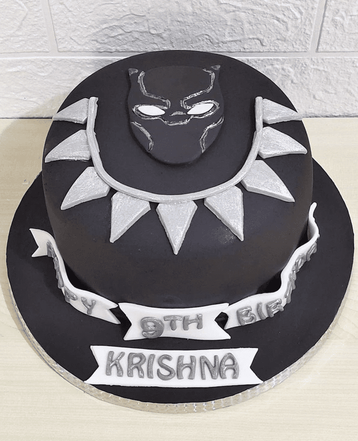 Adorable Black Panther Cake