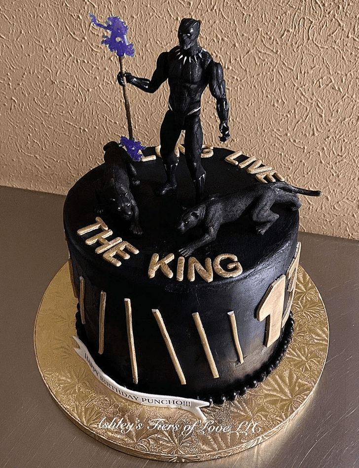 Angelic Black Panther Cake