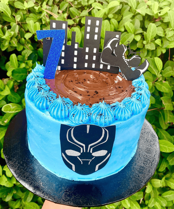 Bewitching Pantherching Black Panther Cake