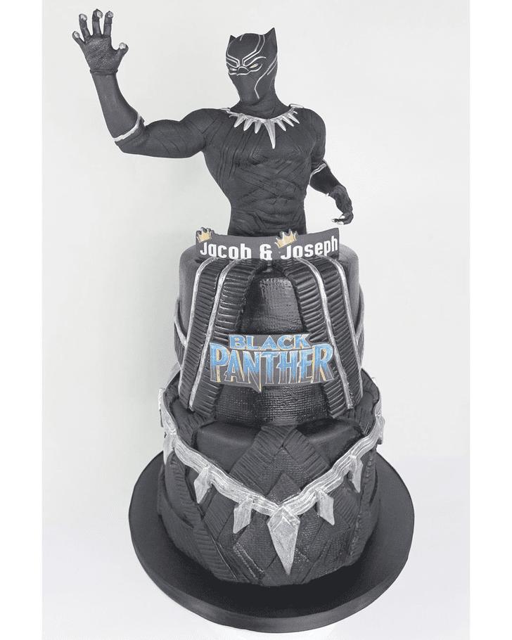 Captivating Black Panther Cake