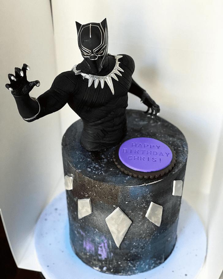 Charming Black Panther Cake